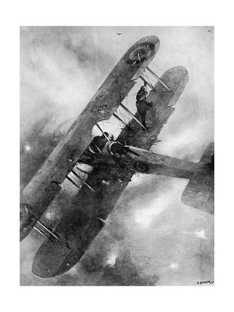 A Balancing Feat over the German Lines, WW1 Aviation