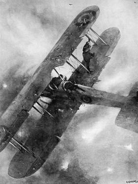 A Balancing Feat over the German Lines, WW1 Aviation by Christopher Clark