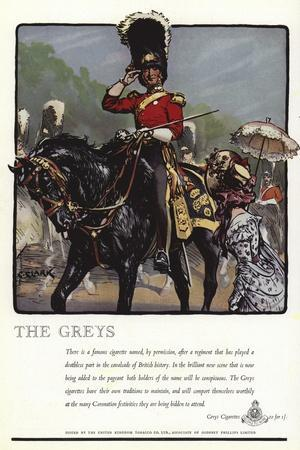 Advertisement for Greys Cigarettes