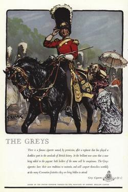 Advertisement for Greys Cigarettes by Christopher Clark