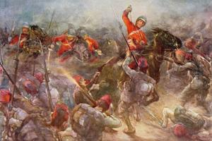 The Charge of the Drury Lowes Cavalry at Kassassin, August 28th, 1882, Illustration from 'British… by Christopher Clark