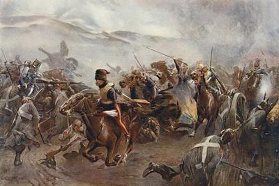 The Charge of the Light Brigade at the Battle of Balaclava on 25th October, 1854, Illustration…