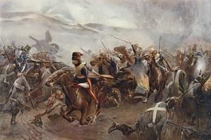 The Charge of the Light Brigade at the Battle of Balaclava on 25th October, 1854, Illustration… by Christopher Clark