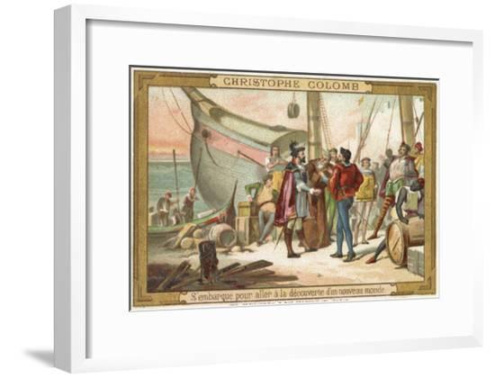 Christopher Columbus--Framed Giclee Print
