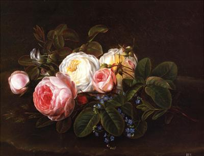 Still Life with Roses and Forget by Christopher Eckersberg