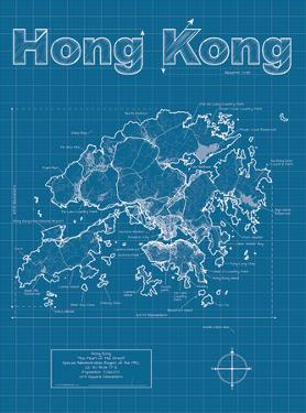 Maps of hong kong posters for sale at allposters hong kong artistic blueprint map by christopher estes gumiabroncs Choice Image