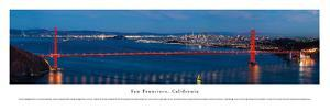 San Francisco - Golden Gate at Night - Unframed by Christopher Gjevre