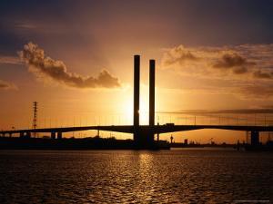Bolte Bridge at Sunset, Melbourne, Australia by Christopher Groenhout