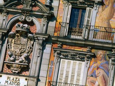 Building Facades in Plaza Mayor, Madrid, Comunidad De Madrid, Spain by Christopher Groenhout