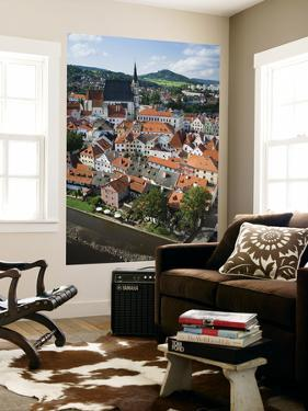 Cesky Krumlov from Round Castle Tower by Christopher Groenhout
