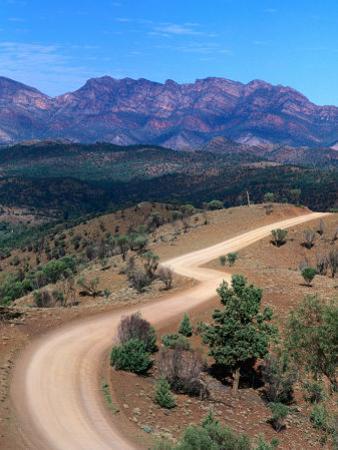 Dirt Road Winding Through Range, Flinders Ranges National Park, Australia by Christopher Groenhout