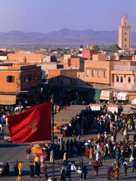 Djemaa El-Fna Square in Old Part of Town, Marrakesh, Morocco by Christopher Groenhout