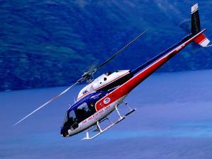 Helicopter About to Land, Queenstown, New Zealand by Christopher Groenhout