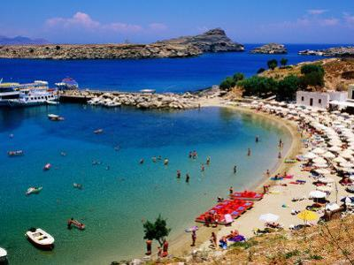 Lindos Beach, Lindos, Greece by Christopher Groenhout