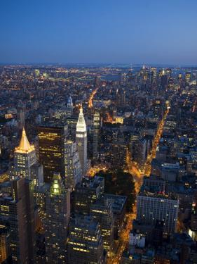 Manhattan from Empire State Building Observation Deck at Dusk by Christopher Groenhout