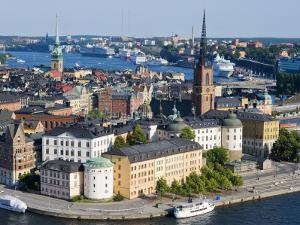 Overlooking Gamla Stan, Old City, from City Hall Tower by Christopher Groenhout