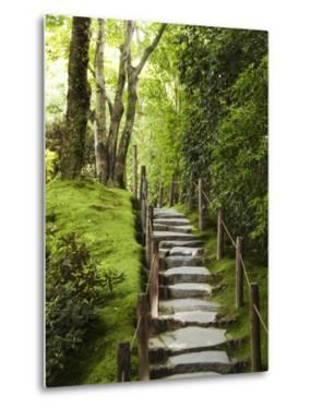 Stone Steps Leading Through Shoyoen Garden at Rinno-Ji Temple by Christopher Groenhout