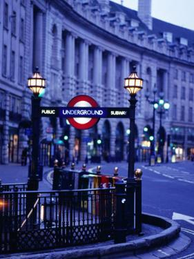 Underground Station Sign, London, United Kingdom, England by Christopher Groenhout