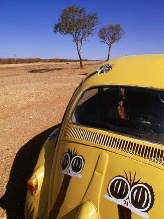 Volkswagon Beetle in Outback, Silverton, New South Wales, Australia