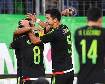 Soccer: Mexican National Team Vs New Zealand by Christopher Hanewinckel