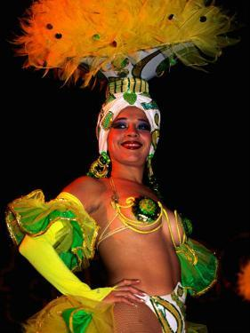 Female Dancer at Centro Nocturno Cabaret, Holguin, Cuba by Christopher P Baker