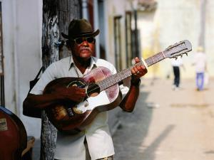 Guitar-Playing Troubador, Trinidad, Sancti Spiritus, Cuba by Christopher P Baker