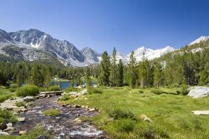 USA, California. Glacial lake in the Little Lakes Valley, Bishop and Mammoth Lakes. by Christopher Reed
