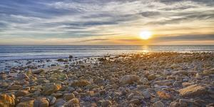 USA, California, Malibu. Sunset as seen from County Line Beach. by Christopher Reed