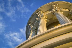 USA, Washington DC. Columns atop the dome of the U.S. Capitol. by Christopher Reed