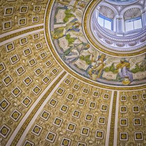 USA, Washington DC. The ceiling of the Library of Congress main room. by Christopher Reed
