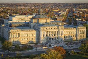 USA, Washington DC. The Jefferson Building of the Library of Congress. by Christopher Reed