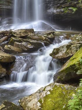USA, West Virginia. Waterfall of the Falls of Hills Creek. by Christopher Reed