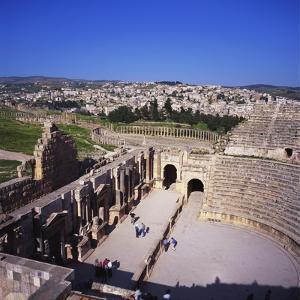 Ancient Roman Oval Forum, Jerash, Decapolis, Jordan by Christopher Rennie