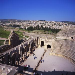 Ancient Roman Oval Forum, Jerash, Decapolis, Jordan by Christopher Rennie