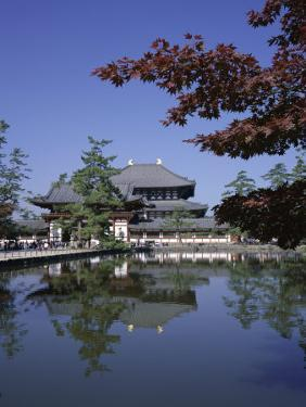 Exterior of Daibutsen-Den Hall of the Great Buddha, Dating from 1709, Reflected in Water, Nara by Christopher Rennie