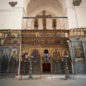 Iconostasis in Former Monastery of Apostolos Varnavas, St. Barnabas, North Cyprus by Christopher Rennie