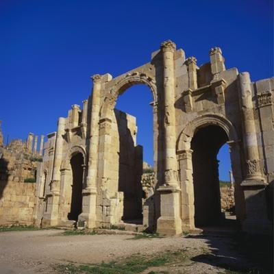 Jerash South Gate in Jordan, Dating from C.130 Ad