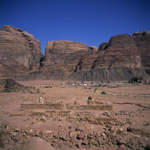 Nabatean Temple Dating from the 1st Century AD, Wadi Rum, Jabal Umm Ishrin, Jordan, Middle East by Christopher Rennie