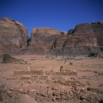 Nabatean Temple Dating from the 1st Century AD, Wadi Rum, Jabal Umm Ishrin, Jordan, Middle East