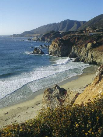 Ninety Miles of Rugged Coast Along Highway 1, California, USA
