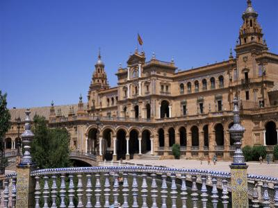 Plaza De Espana, Built for the 1929 World Fair, Maria Luisa Park, Seville, Andalucia, Spain by Christopher Rennie