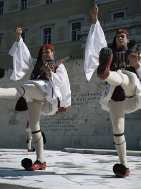 Republican Guard, Parliament, Syntagma, Athens, Greece by Christopher Rennie