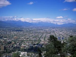 Santiago and the Andes Beyond, Chile, South America by Christopher Rennie