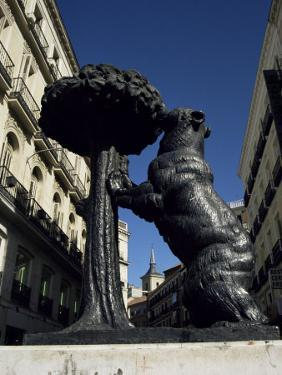 Statue of a Bear, Emblem of Madrid, Plaza Puerto Del Sol, Madrid, Spain by Christopher Rennie