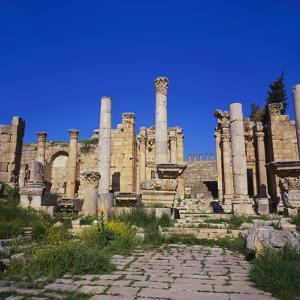 Temple of Artemis, Jerash, Jordan, Middle East by Christopher Rennie