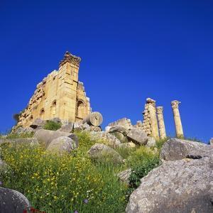 Temple of Zeus, Jerash, Jordan, Middle East by Christopher Rennie