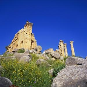 Temple of Zeus, Jerash, Jordan, Middle East by Christopher Rennie