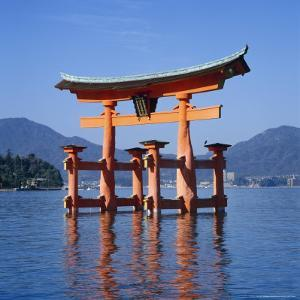 Torii Gate Shrine, (Itsukushima-Jingu Miya Jima), Japan by Christopher Rennie