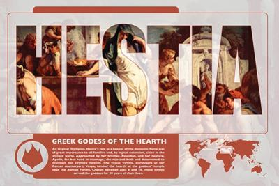 Hestia Mythology Poster by Christopher Rice