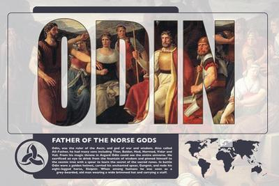 Odin World Mythology Poster